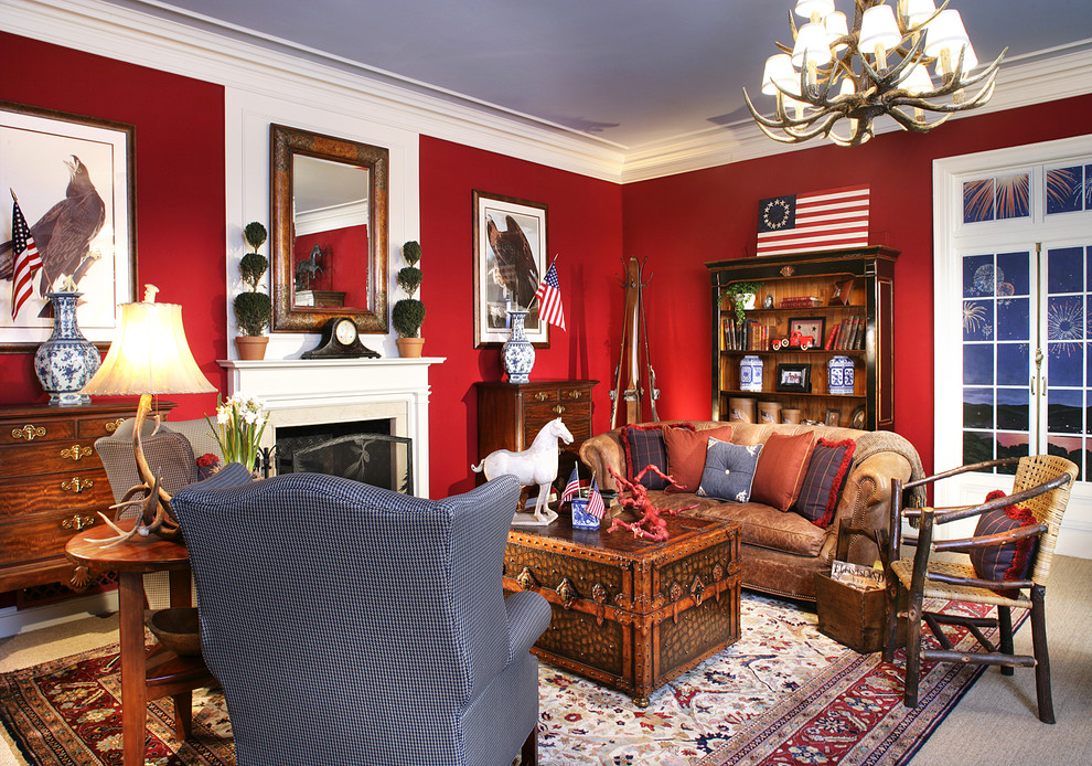 Wohnzimmer Bohemian Elegant Mantel Clocks In Living Room Victorian With Red