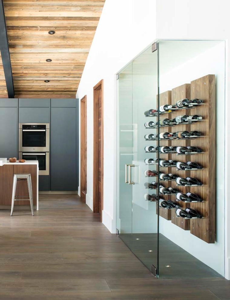 Innovative Wall Mounted Wine Racks In Dining Room