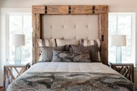 Sumptuous padded headboard in Bedroom Rustic with Homemade ...