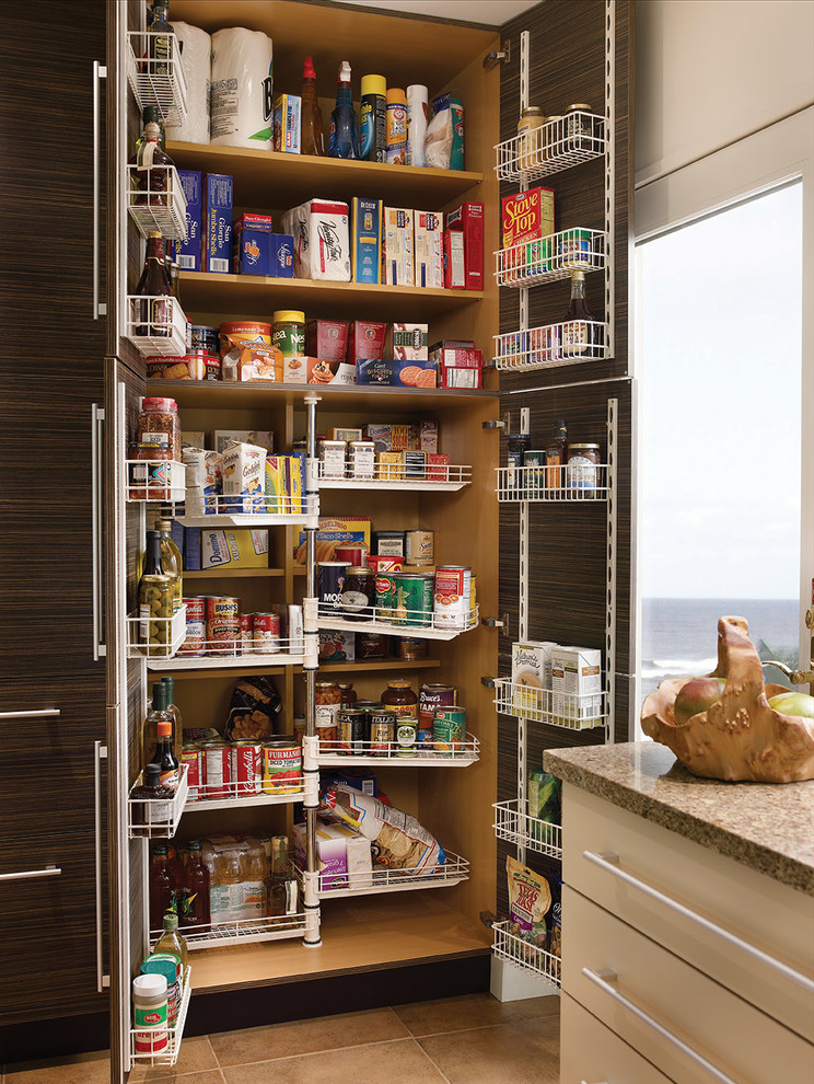 Beautiful Tall Pantry Cabinet In Kitchen Contemporary With