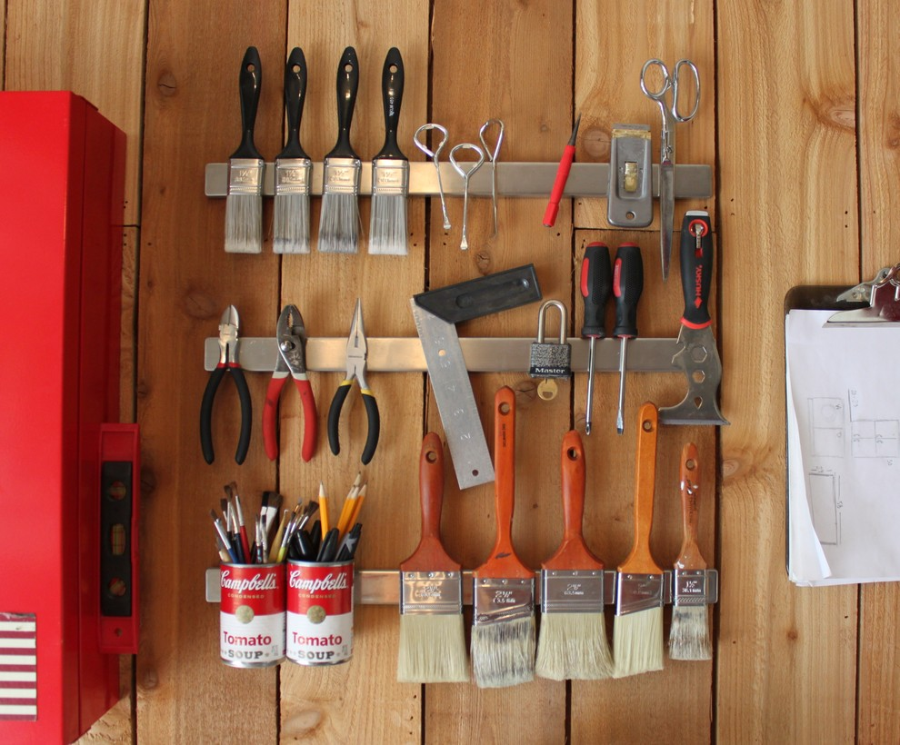 Chic Viper Tool Storage In Spaces Eclectic With Lean To