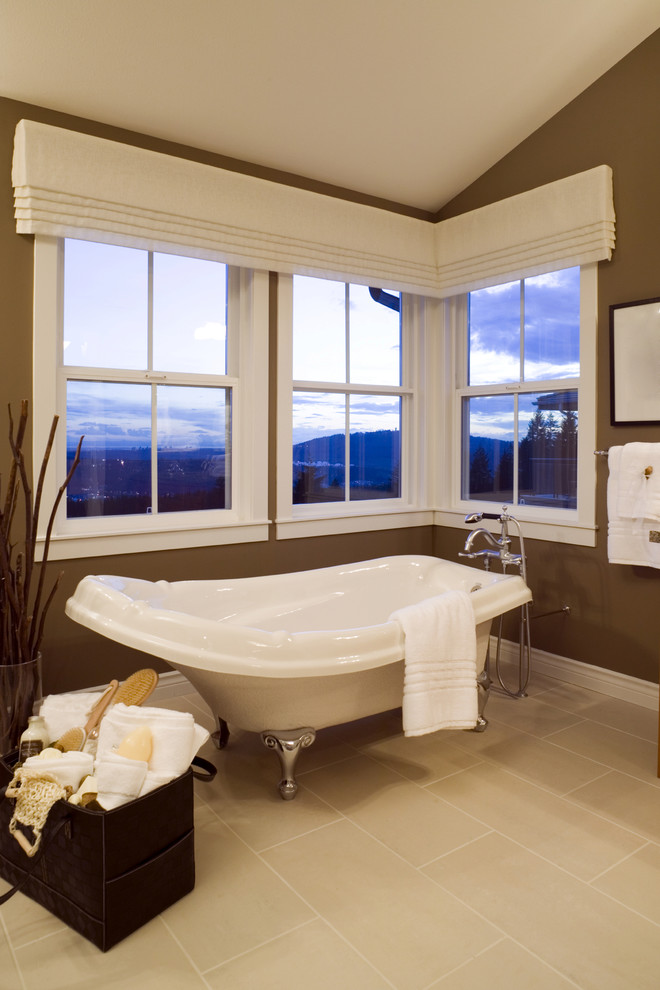 valances window treatments in Bathroom Contemporary with Valance - modern valances for living room