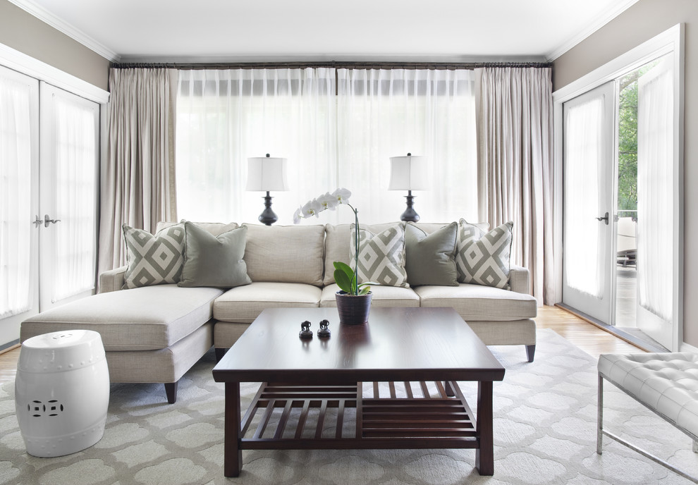 Glamorous lumbar pillows in Living Room Traditional with Sherwin - mindful gray living room