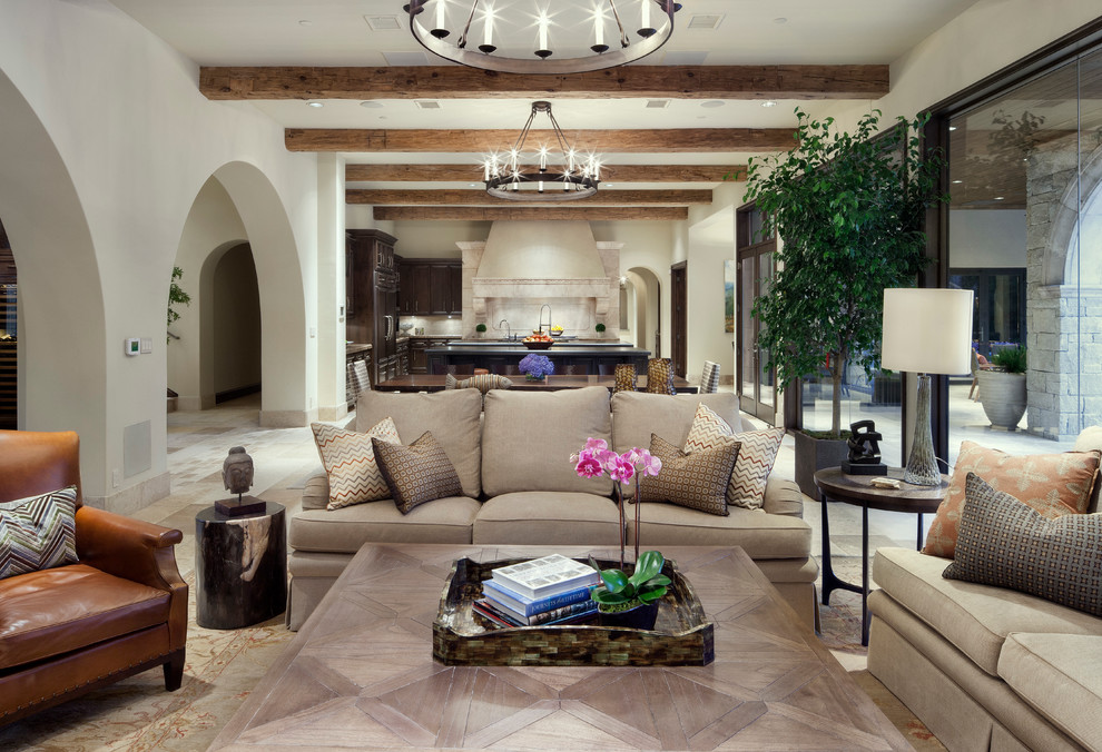 Glamorous ottoman trays in Living Room Traditional with