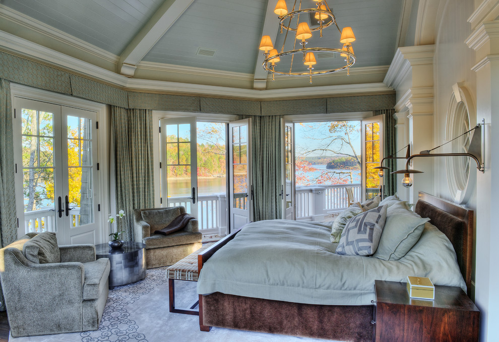 Gorgeous Blackout Drapes In Bedroom Beach Style With Swing