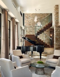 Impressive musical snow globes in Living Room Contemporary ...