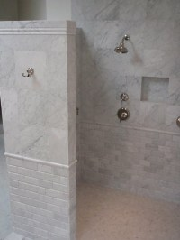 Inspired robe hooks in Bathroom Traditional with Tiled ...