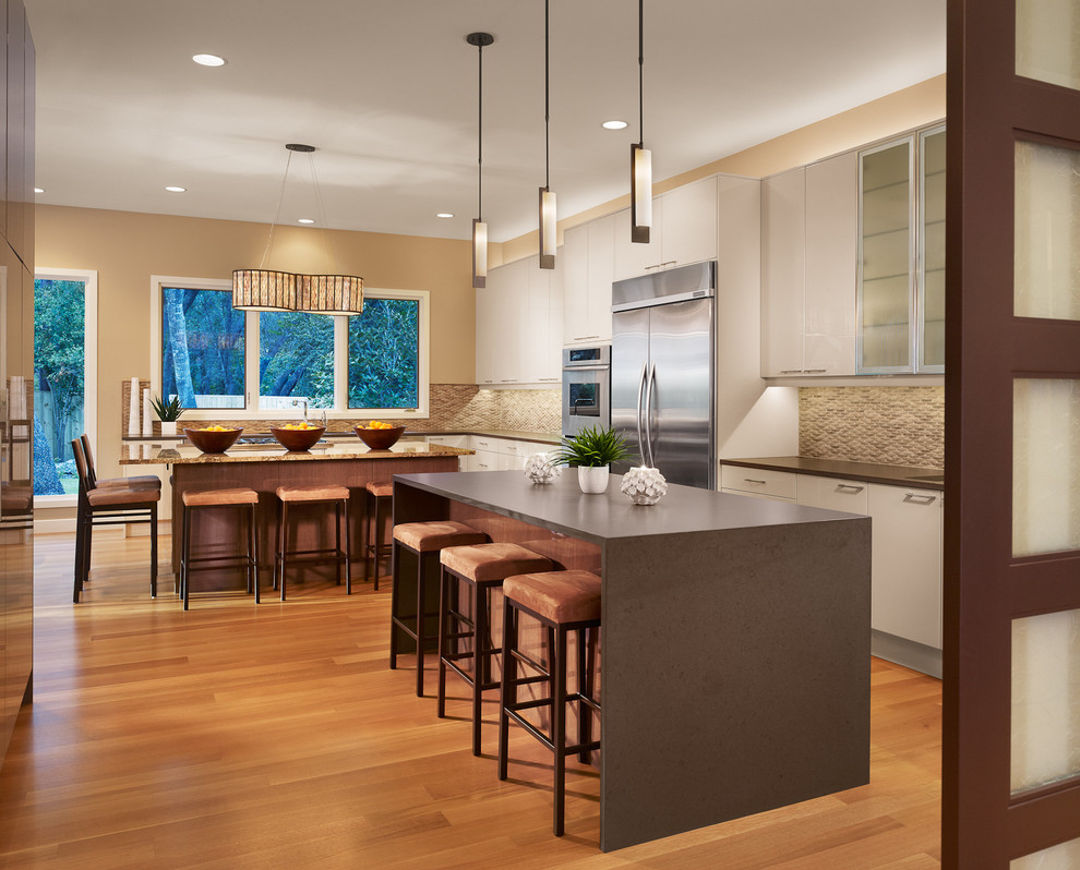 Magnificent amisco in Kitchen Contemporary with Open Terrace next to Granite Kitchen Island alongside Rift White Oak andRift Sawn Oak Flooring