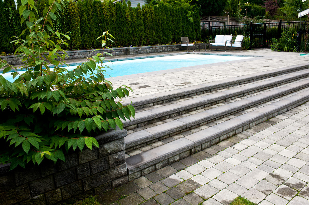 Marvelous Above Ground Pool Stairsin Pool Traditional With