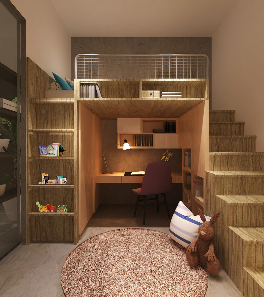 Marvelous Loft Bed With Desk Underneath In Kids Contemporary With Bed Design Next To Kids Bedroom Alongside Teen Bedroom Paint And Small Man Cave