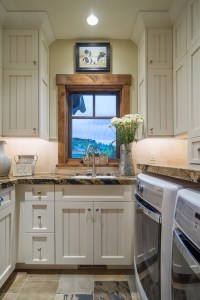 Laundry Room Cabinets with Custom Cabinetry Window ...
