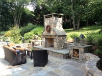 Outdoor Fireplace Pictures with Retractable Screens Dark ...