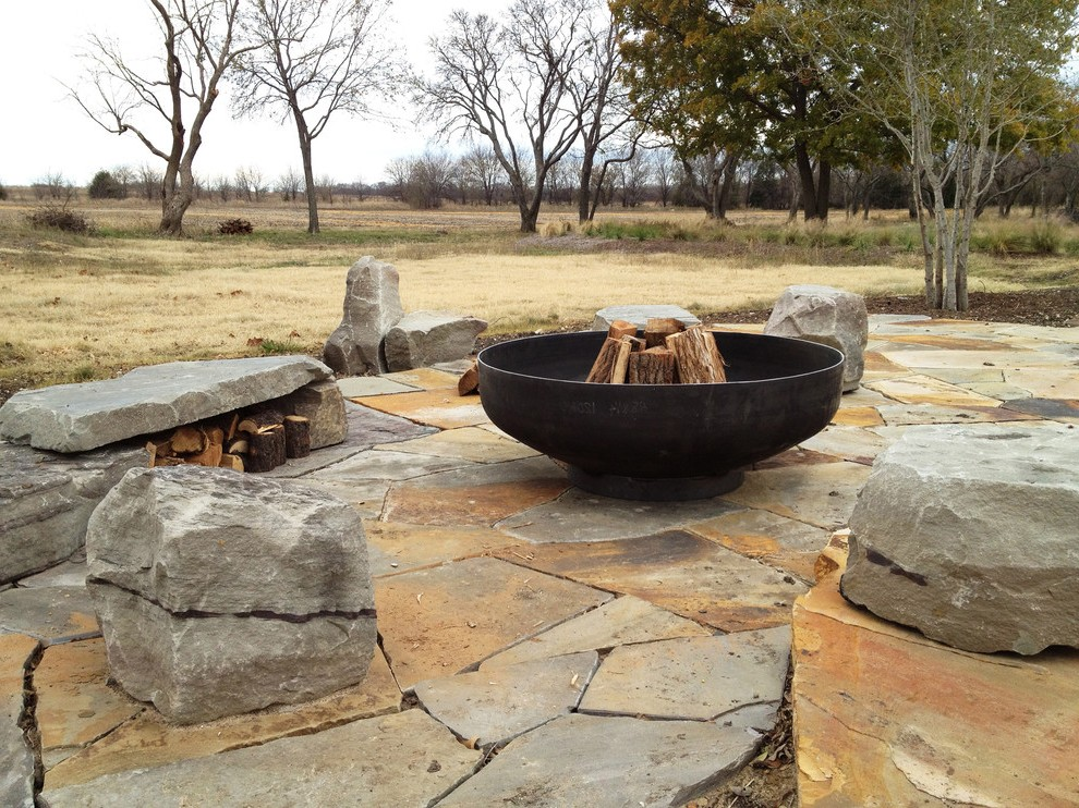 Patio Fire Pit Beach Style With Coast Transitional Path