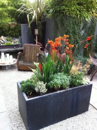 Planter Box Ideas with Container Plant Geometric Geometry Rock
