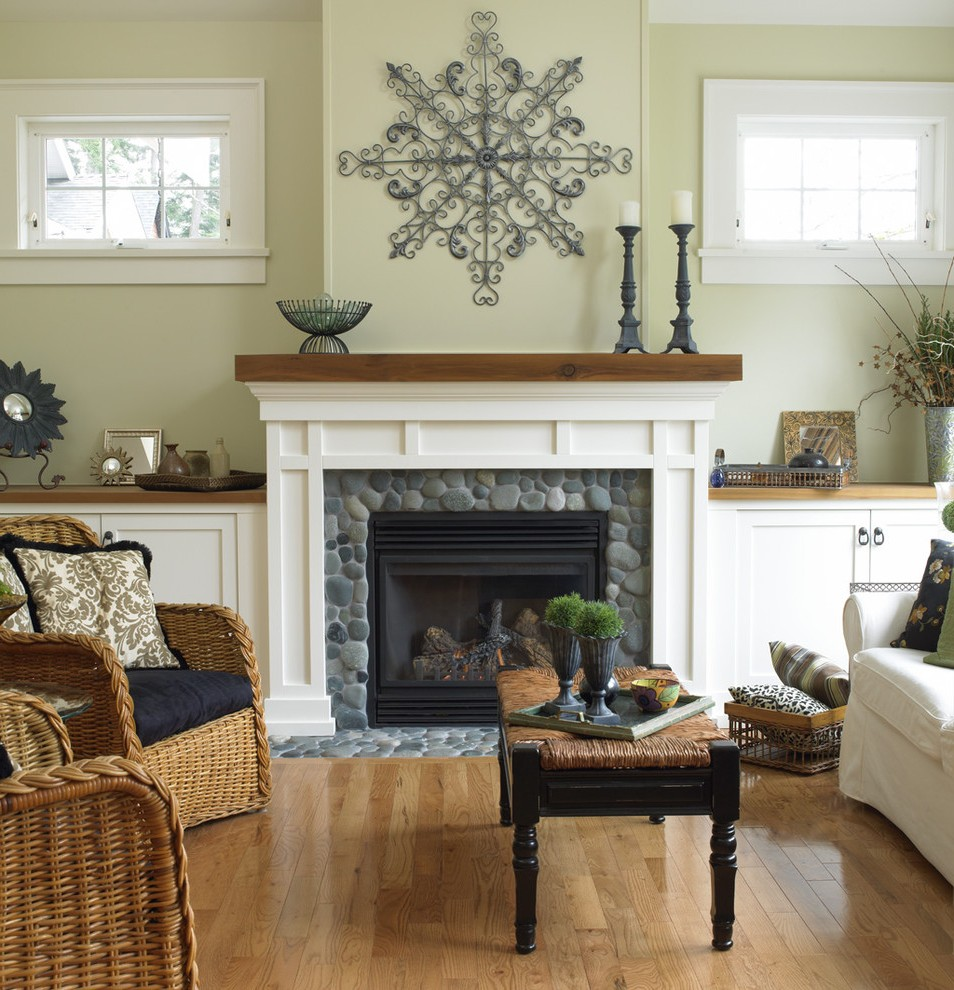 Rustic Fireplace Mantels Traditional Nashville With Transitional Ottomans And Footstools