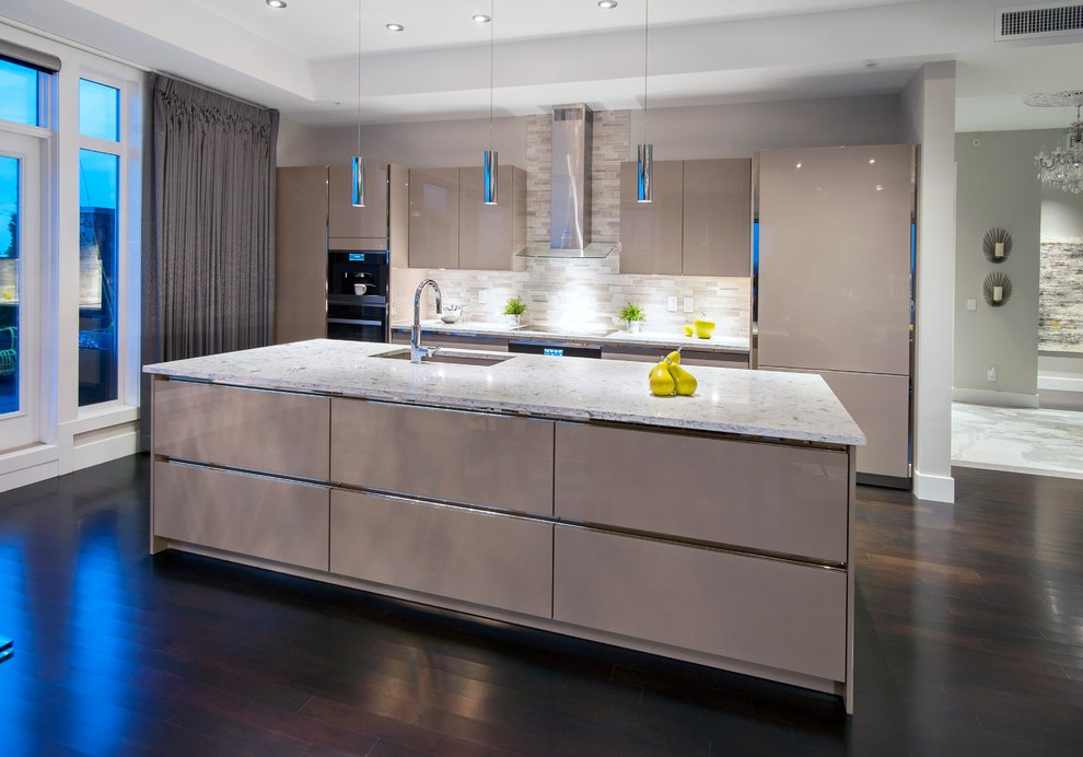Lacquered Glass Kitchen Cabinets Calgary Lacquered Kitchen Cabinets Contemporary With