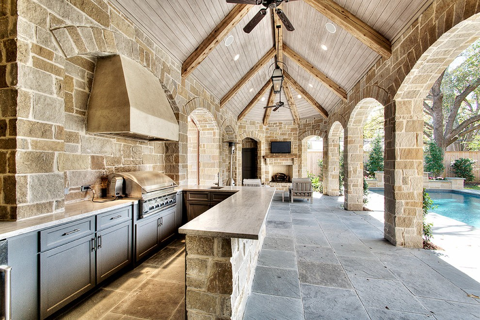 Houston Modular Outdoor Kitchens Patio Traditional With Tv