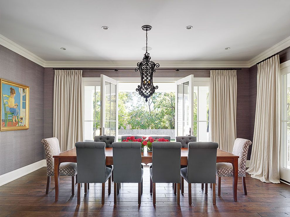 Dining Room Wallpaper With Chair Rail Chicago Wallpaper Chair Rail Dining Room Transitional With