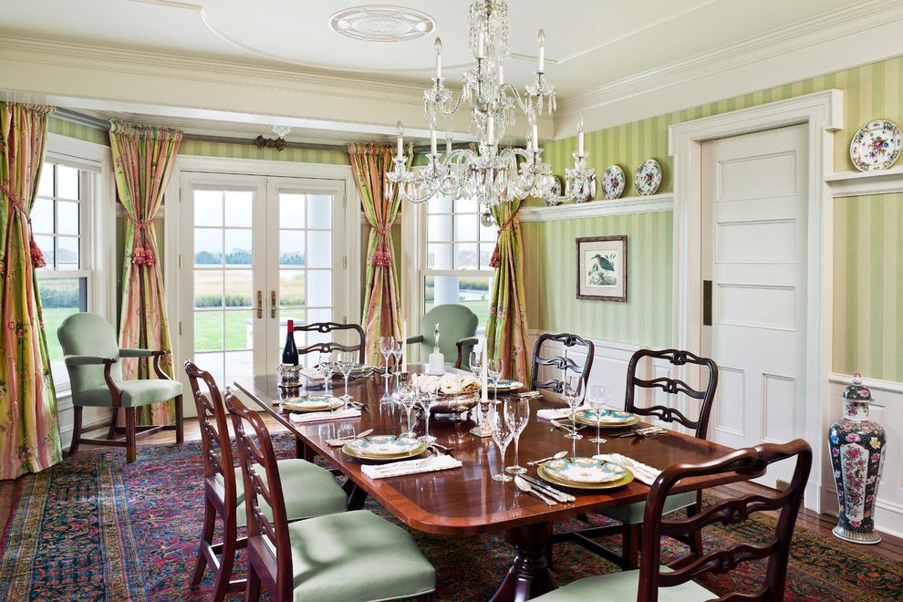 Dining Room Wallpaper With Chair Rail Philadelphia Wallpaper Chair Rail Dining Room Traditional
