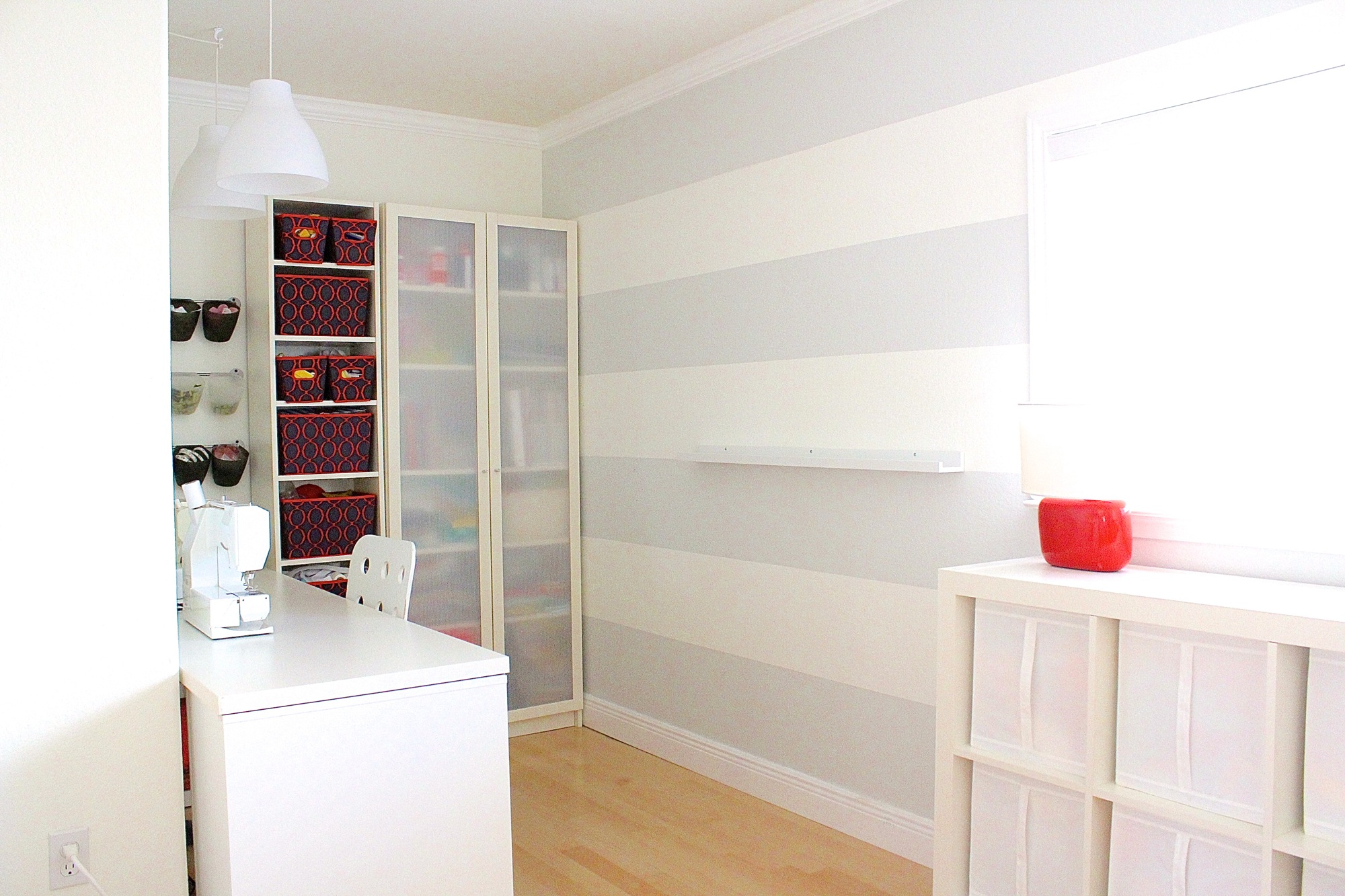 Desks For Small Spaces Ikea First-home Tour: The Sewing Room Makeover, Before And