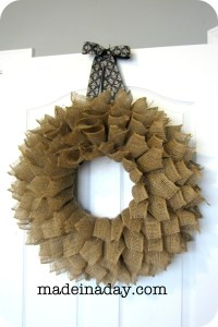 Burlap Wreath | Made in a Day