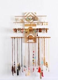 DIY Geometric Industrial Wall Jewelry Organizer  Made in ...