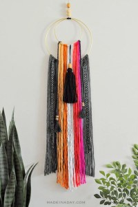 Colorful Baja Boho Fringe Wall Hanging  Made in a Day