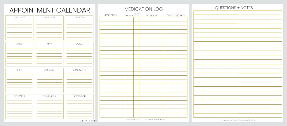 Be Prepared Doctor Office Visit Medical Records Bundle \u2022 Made in a Day