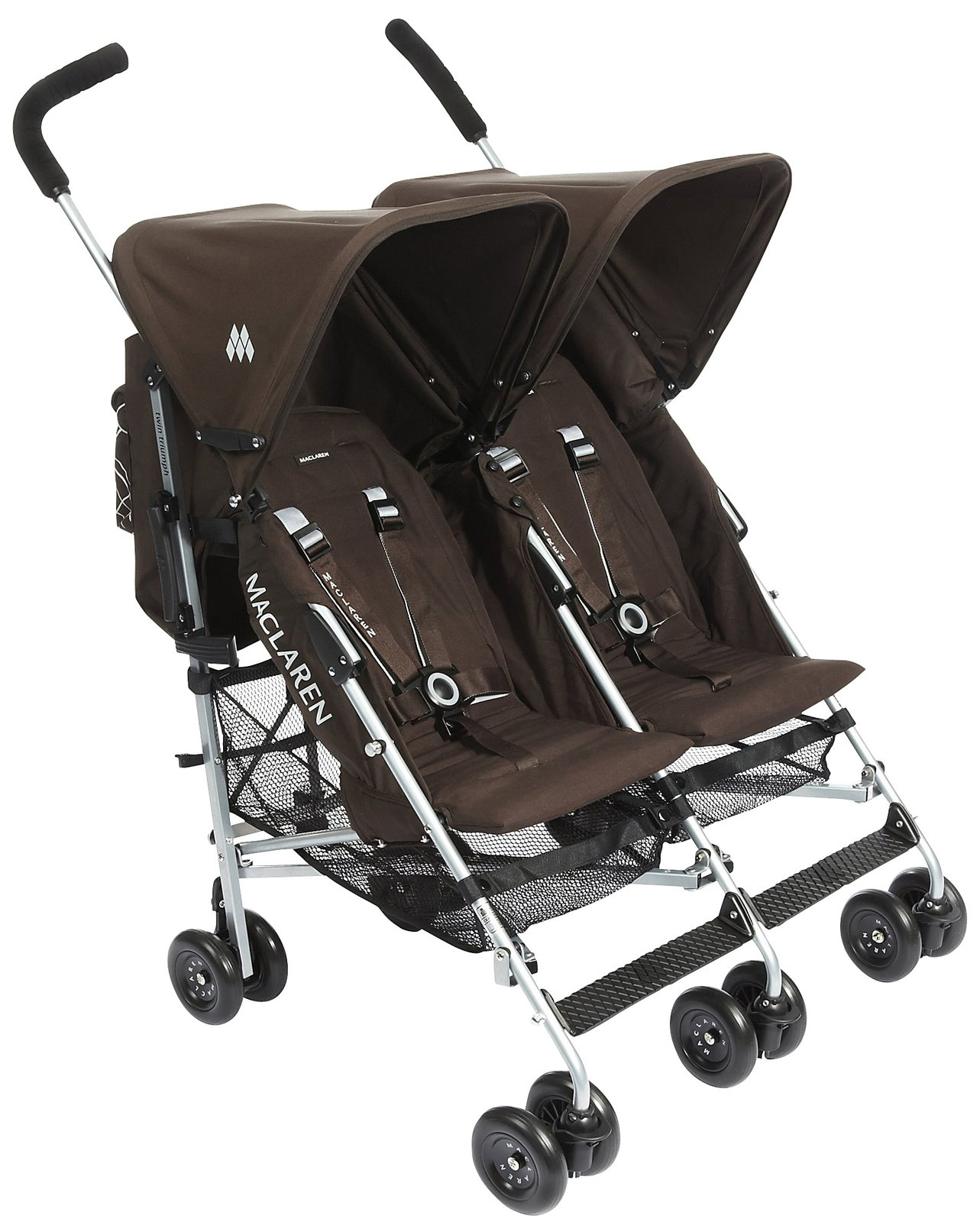 Maclaren Poussette Double Poussette Double Twin Triumph Coffee Brown