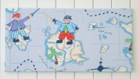 Childrens fabric wall art: boys room, nursery, pirate ...