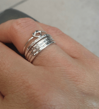 Stacking Rings. Sterling Silver Stackable Rings set of 4