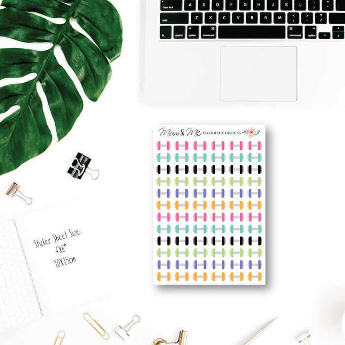 Gym Planner Stickers for Erin Condren Planner, SML011 Mum and Me