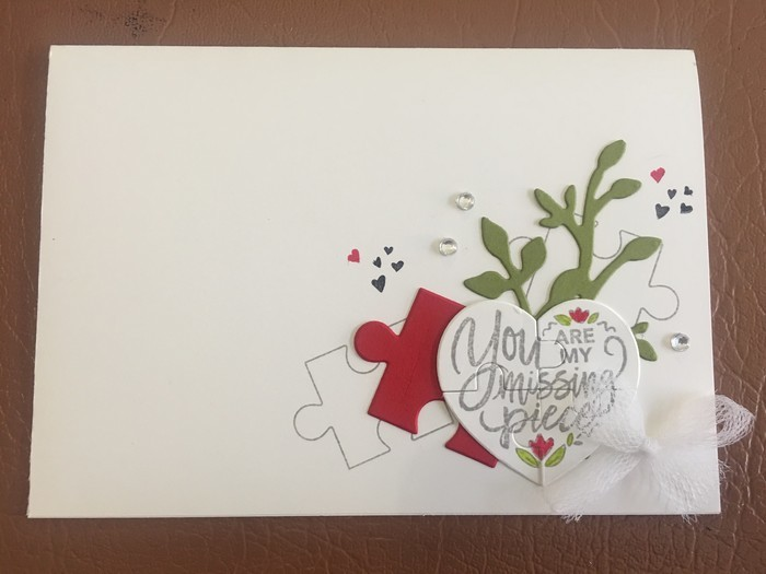 Love heart Anniversary Card - free postage Stacey Handmade Cards