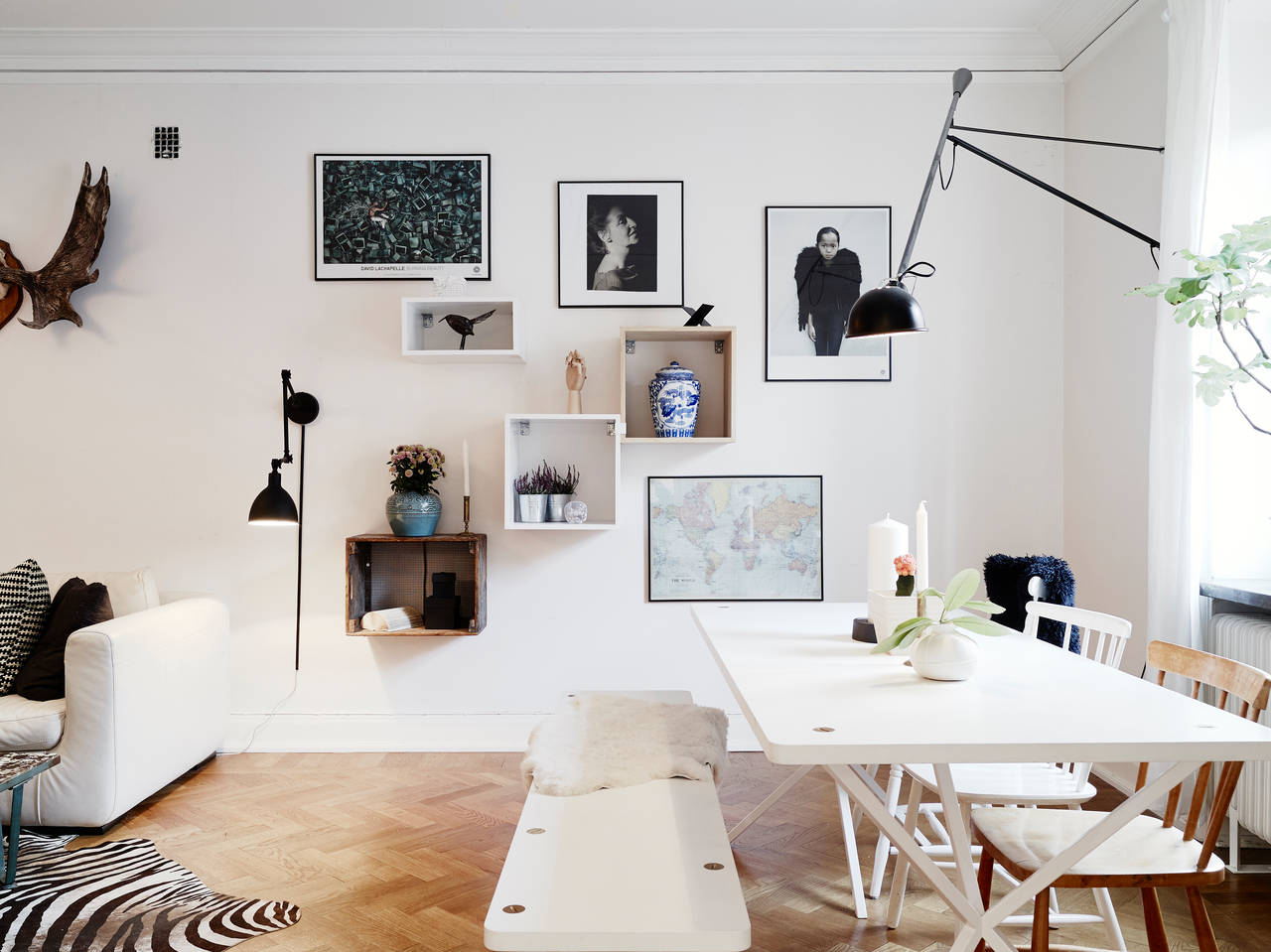 Banc De Salon Home Tour : Un Original Dans Le Style Scandinave