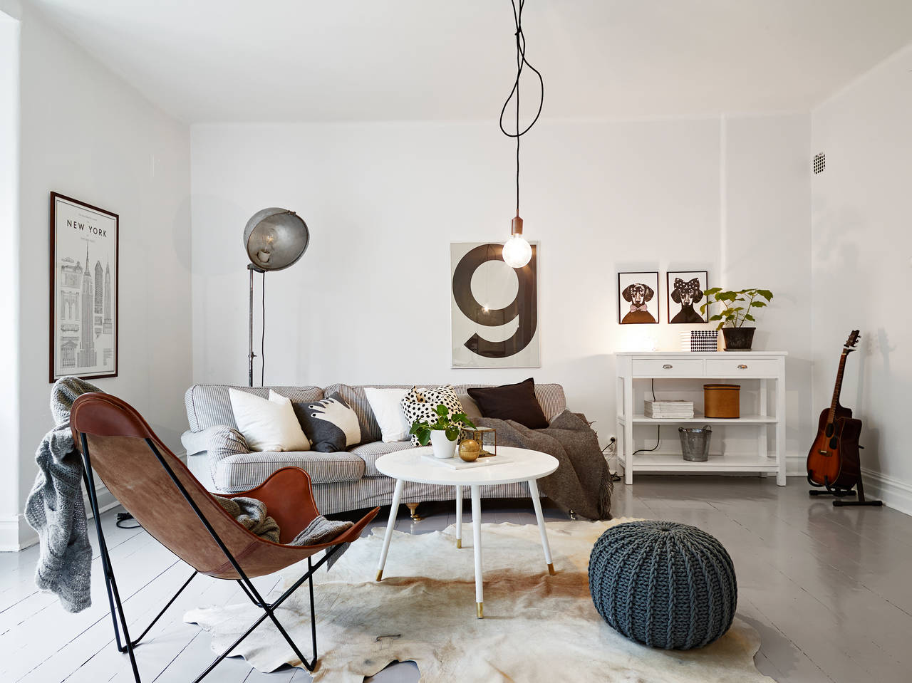 Cognac Woonkamer Home Tour Un Appartement Cocooning Mademoiselle