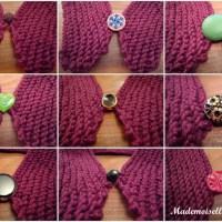 DIY tricot : le col en coton