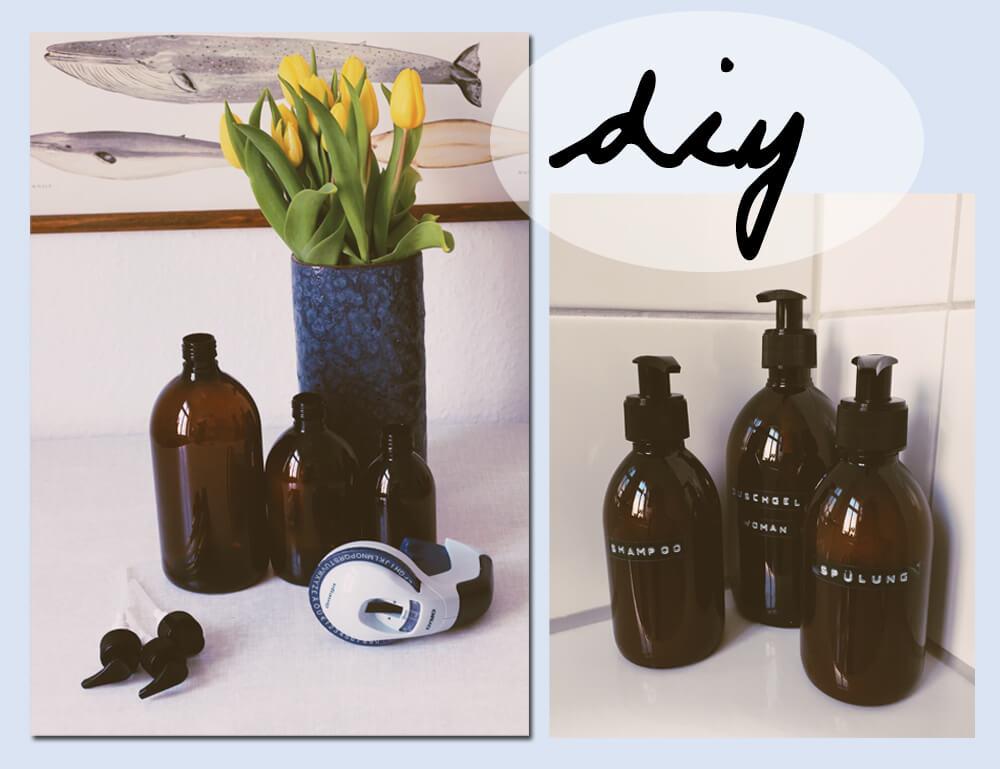 Schön Badezimmer DIY Shampoo Flaschen Verschönern   Badezimmer Pimpen