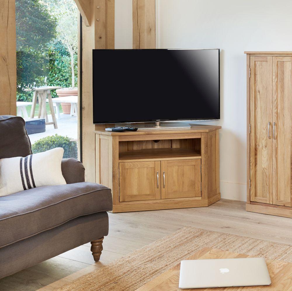 mobel solid oak furniture corner tv cabinet and cd dvd storage