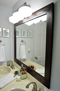 FRAMED BATHROOM MIRROR - Mad in Crafts