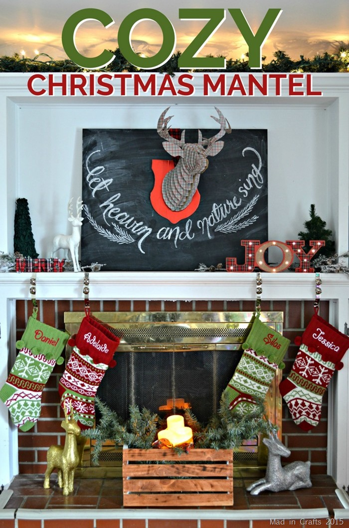 bloggers will be sharing - christmas mantel decor