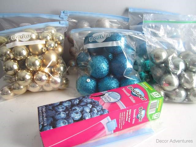 ORGANIZE YOUR CHRISTMAS DÉCOR WITH ONE TRIP TO THE DOLLAR STORE - how to store christmas decorations