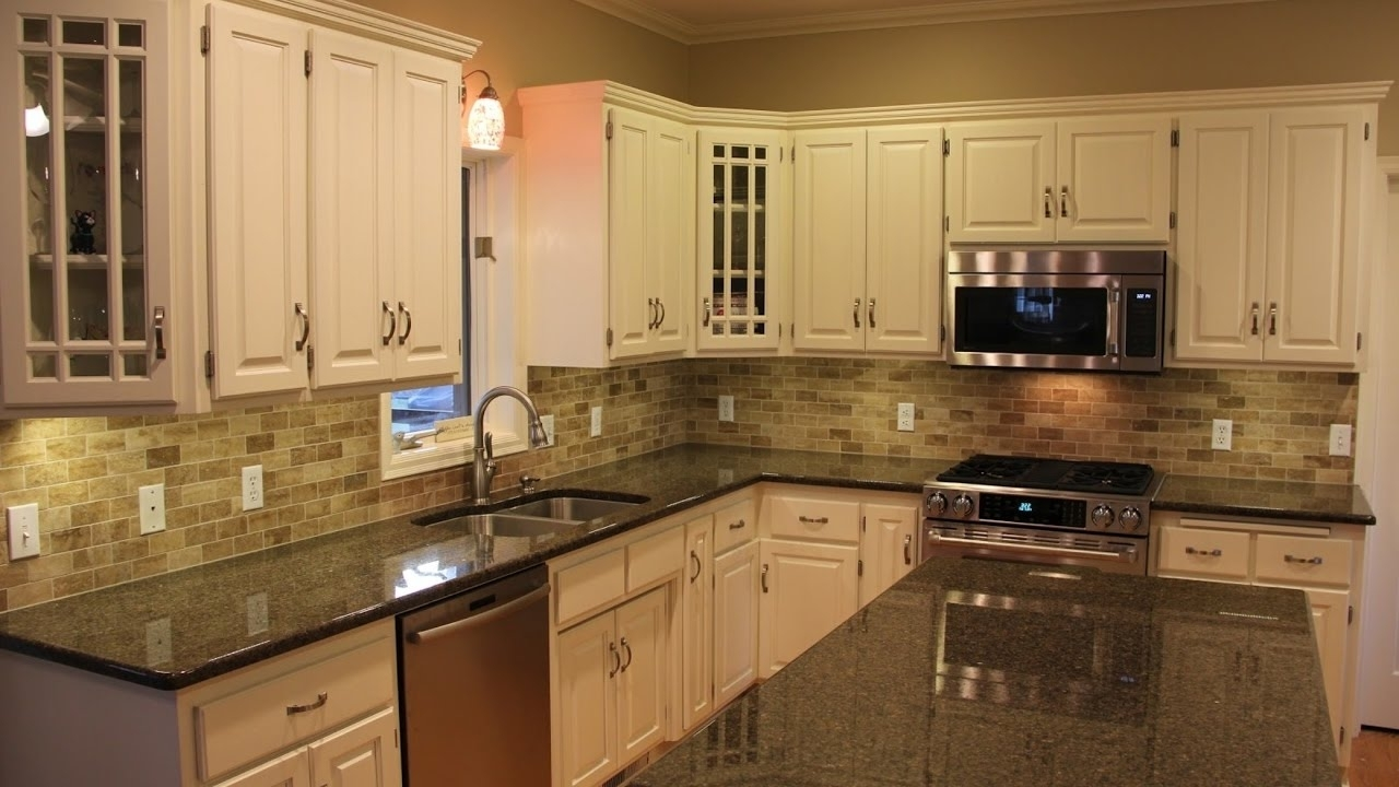 Granite Kitchen Countertops With White Cabinets Dark Brown Granite Countertops With White Cabinets Madison Art
