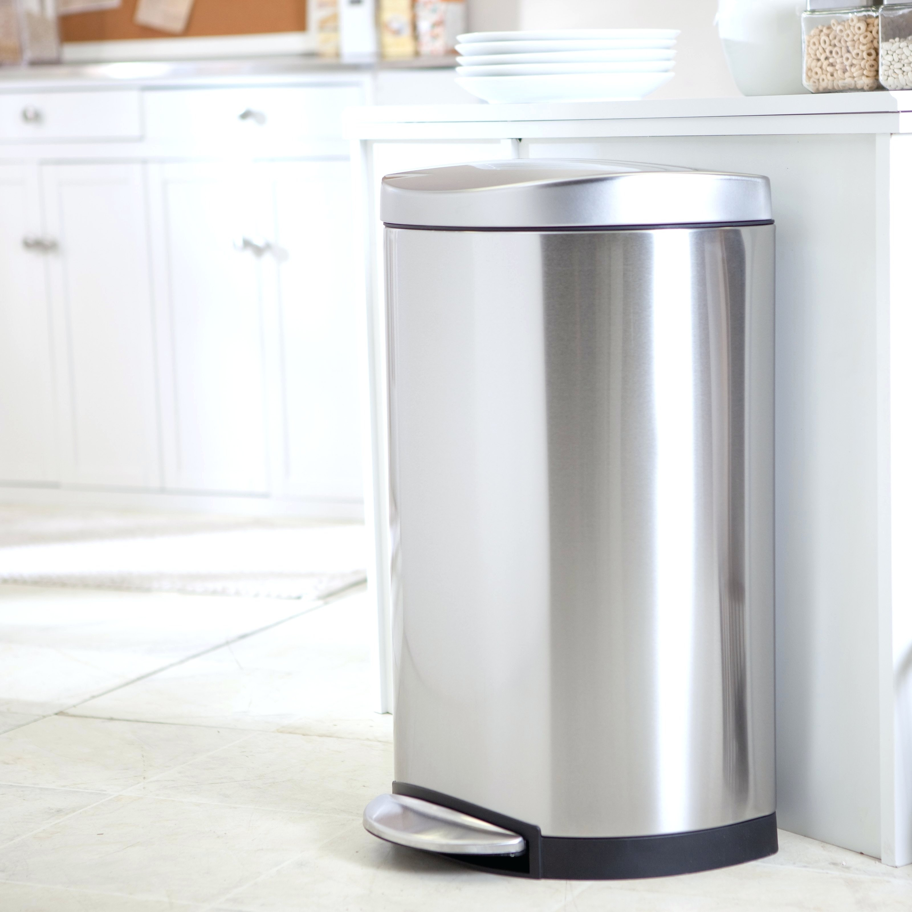 Stainless Steel Tall Kitchen Garbage Can Stainless Steel Indoor Trash Cans Madison Art Center Design