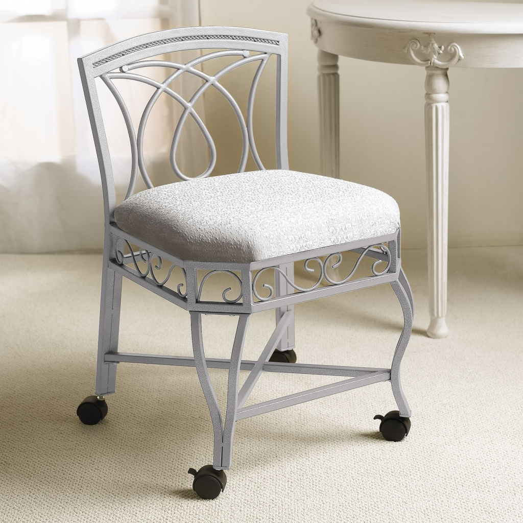 Comfortable Vanity Chair Vanity Stool With Wheels Madison Art Center Design