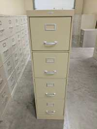 Images of 4 Drawer Cole Vertical File Cabinet