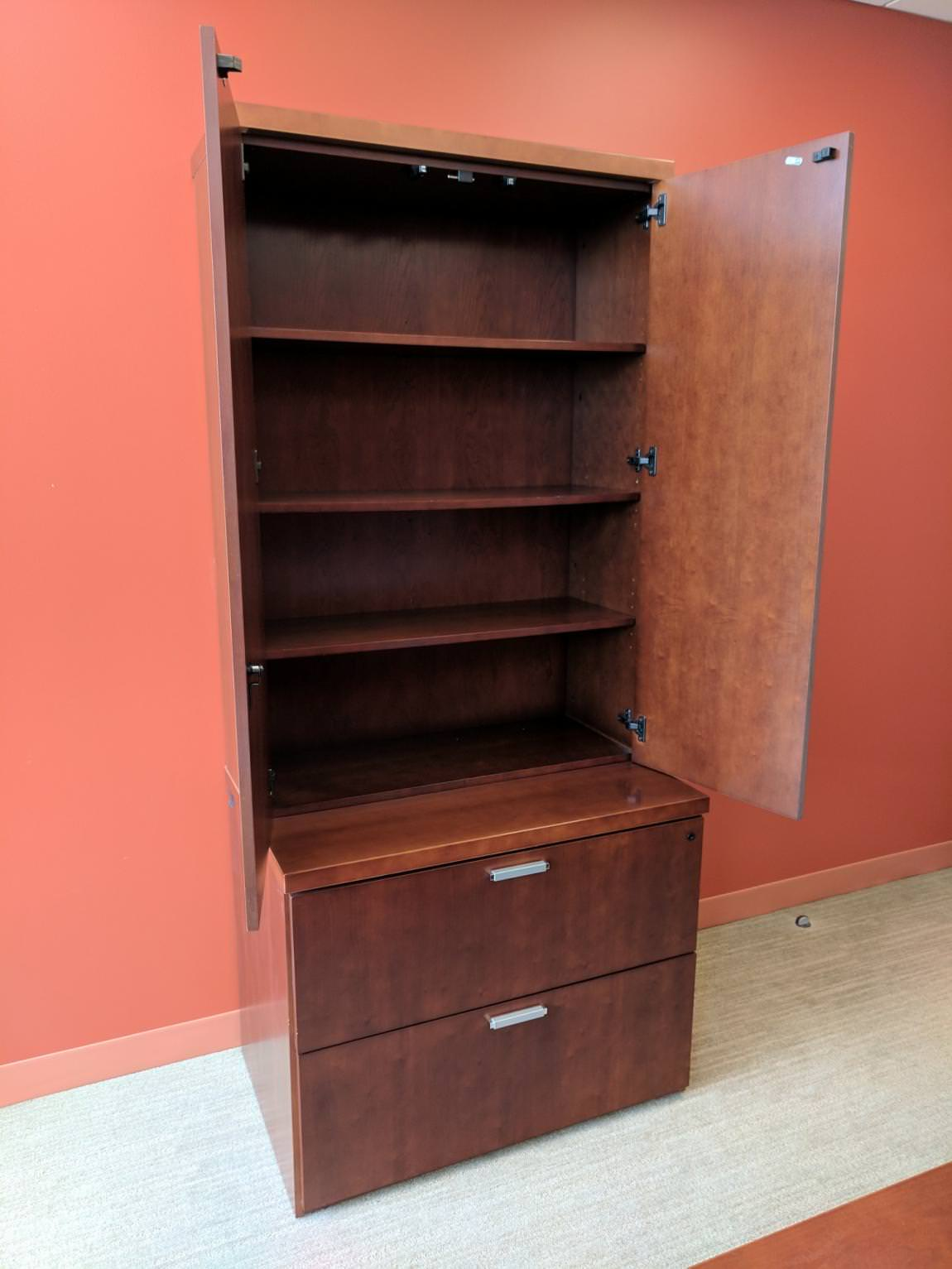 Solid Wood File Cabinet Images Of Solid Wood Cherry 2 Drawer Lateral File Cabinet With Hutch