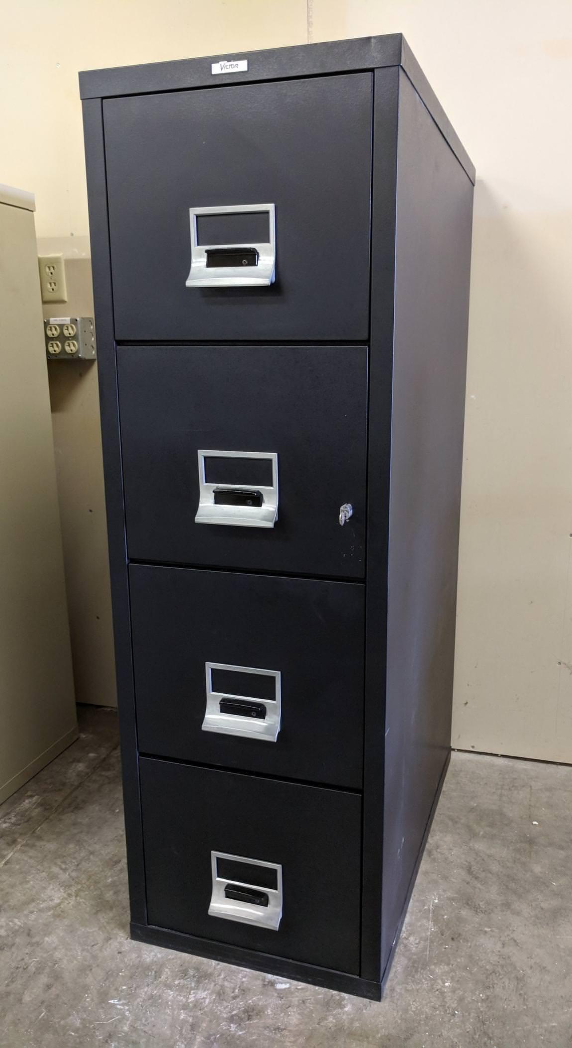 Images of Victor 4 Drawer Fireproof Letter Size File Cabinet