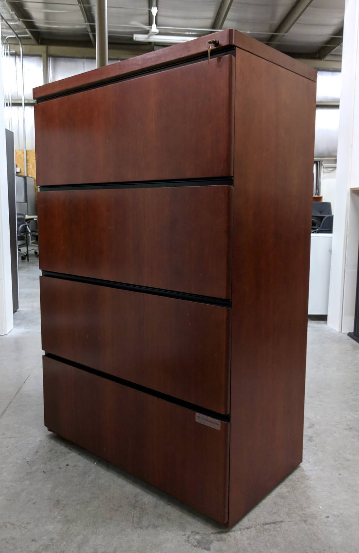 Solid Wood File Cabinet Images Solid Wood Cherry 4 Drawer Lateral Filing Cabinets 36 Inch Wide