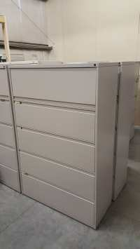 Images of Harpers 5 Drawer Putty Lateral File Filing Cabinet
