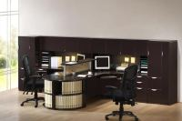 Images of 2 Person T Shaped Executive Desk with Hutch and ...